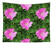 Wild Rose Pattern Tapestry