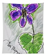 Wild Violet  Tapestry