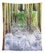 Wild Waves Under The Boardwalk Tapestry