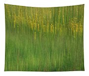 Wildflower Fields Abstract Tapestry