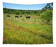 Wildflower Pastures On Willow City Loop Tapestry