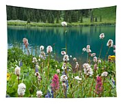 Wildflowers Along The Lake Tapestry