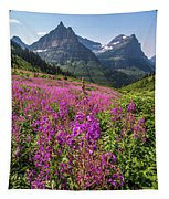 Wildflowers And A Glacier Tapestry