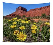 Wildflowers And Butte Tapestry