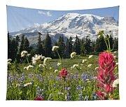 Wildflowers In Mount Rainier National Tapestry