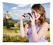 Wildlife Photographer Shooting Insects And Nature Tapestry