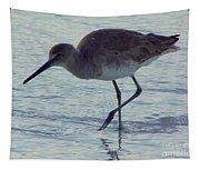 Willet In The Surf Tapestry