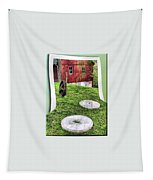 Williston Mill And Grist Wheels Tapestry