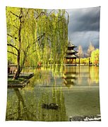 Willow Tree In Liiang China II Tapestry