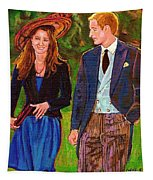 Wills And Kate The Royal Couple Tapestry