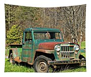 Willys Jeep Pickup Truck Tapestry