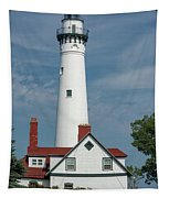 Wind Point Lighthouse Tapestry