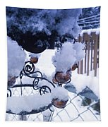 Wind Snow Chimes Tapestry by Robert Knight