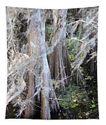 Wind Through The Cypress Trees Tapestry
