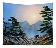 Windblown Pines Tapestry
