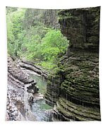 Water Falling Throughout The Gorge Tapestry