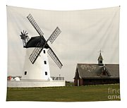 Windmill At Lytham St. Annes - England Tapestry