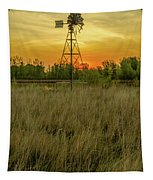 Windmill On The Prairie Tapestry