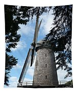 Windmill Through The Trees Tapestry