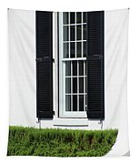 Window And Black Shutters Tapestry