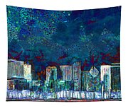 Windy Chicago Illinois Skyline Party Nights 20180516 Tapestry
