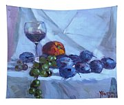 Wine And Fresh Fruits Tapestry