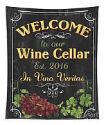 Wine Cellar Sign 1 Tapestry
