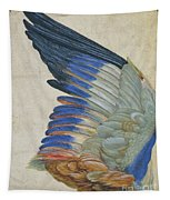 Wing Of A Blue Roller Tapestry