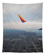 Winged Above Chitown Tapestry by Robert Knight