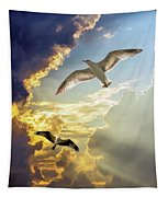 Wings Against The Storm Tapestry