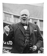 Winston Churchill Campaigning - 1945 Tapestry