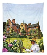 Winston Churchill Painting At Chartwell Tapestry