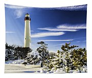 Winter At Cape May Light Tapestry
