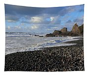 Winter At Sandymouth Tapestry