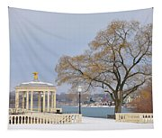 Winter At The Waterworks Tapestry