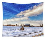 Winter Barn 3 - Paint Tapestry