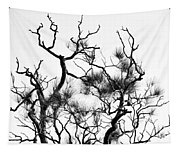 Winter... Black And White Tapestry