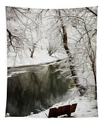 Winter Contemplation Watercolor Painting Tapestry