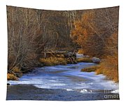 Winter Gold On The Yakima River Tapestry