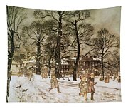 Winter In Kensington Gardens Tapestry