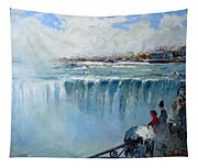 Winter In Niagara Falls Tapestry