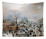 Winter Landscape With Skaters Tapestry