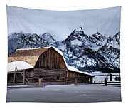 Winter Morning At John Moulton Barn Tapestry