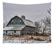 Winter On The Farm 2 Tapestry