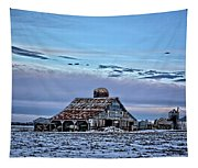 Winter On The Farm Tapestry
