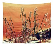 Winter Orange Tapestry