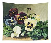 Winter Pansies Tapestry