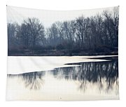 Winter Reflection On The Yakima River Tapestry