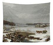 Winter Scene In Pennsylvania Tapestry