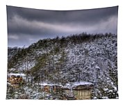 Winter Snow Storm Tapestry